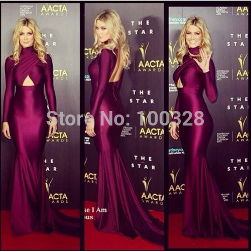 Aliexpress.com : buy custom made mermaid floor length court train full sleeve high neckline backless prom/evening dresses 2014 new design from reliable dress fashion designers suppliers on rose wedding dress co., ltd
