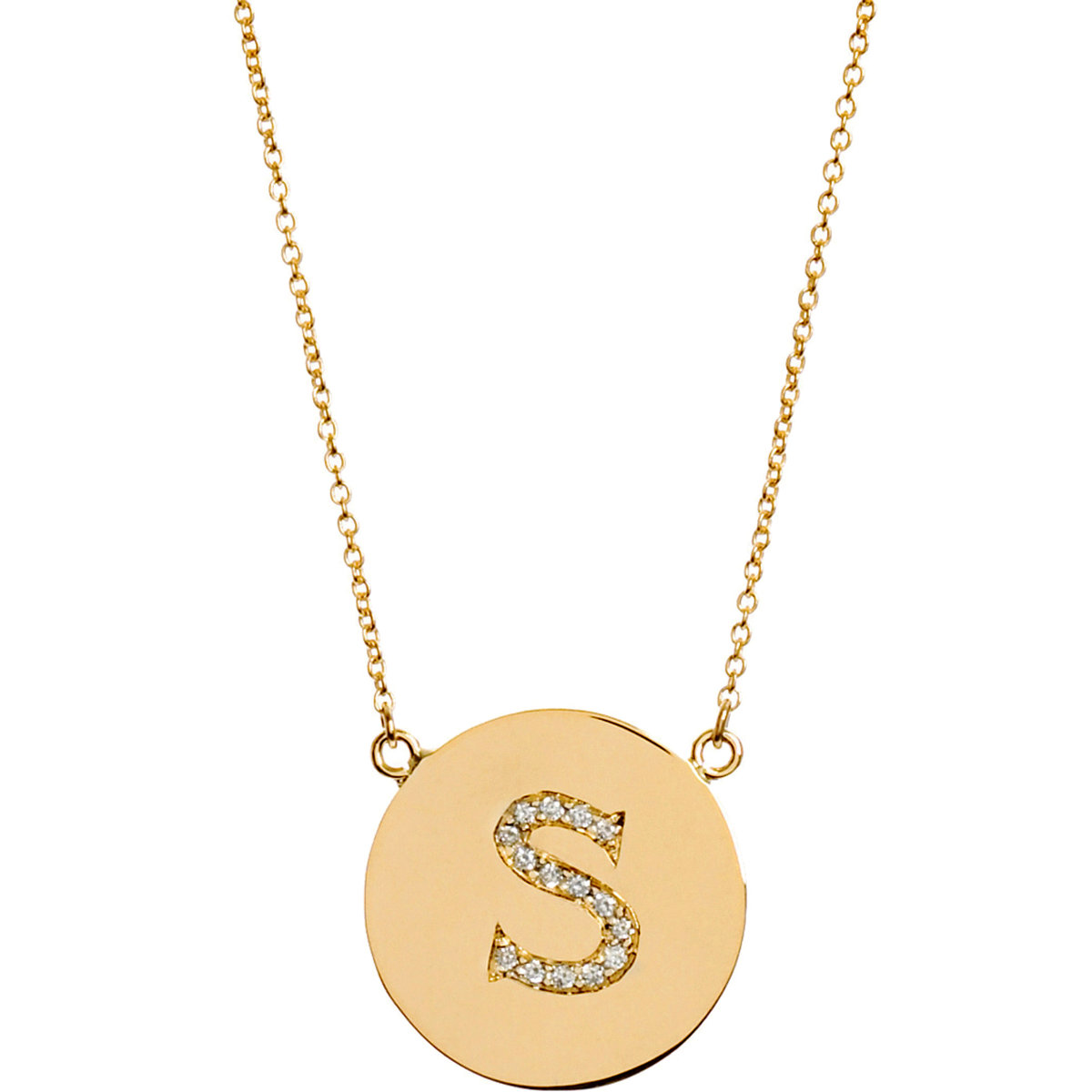 Jennifer Meyer Yellow Gold & Diamond 'S' Pendant Necklace at Barneys.com