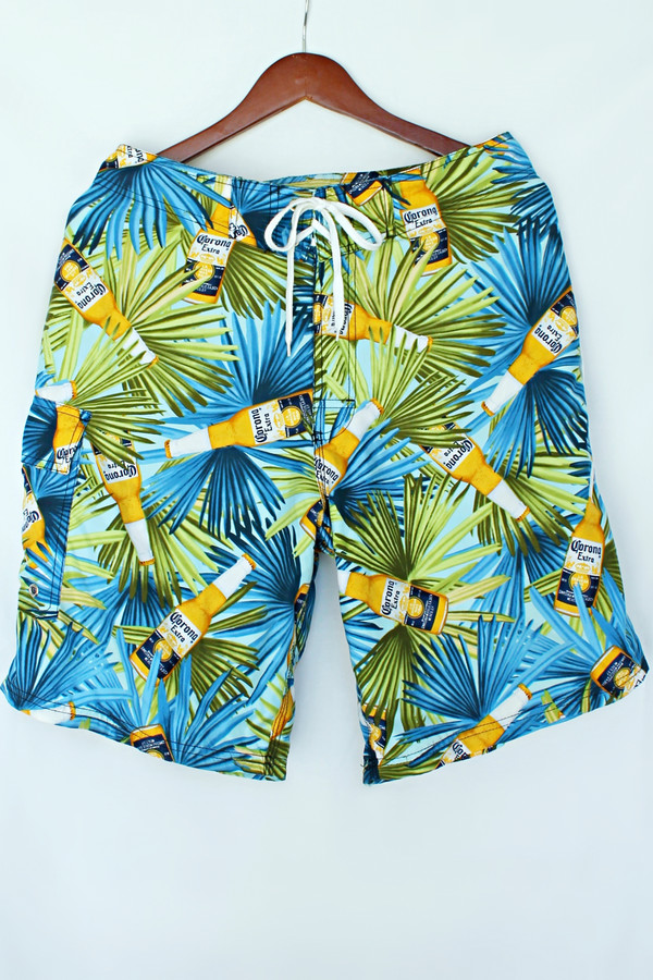 swimwear corona extra menswear swim trunks blogger party summer shorts holidays beach bustier california coachella festival friday clothes