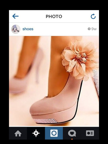 shoes pink shoes flowered shoes