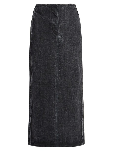 skirt denim long black