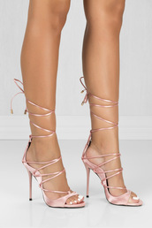 shoes,heels,high heels,blush pink shoes,strappy heels,skirt
