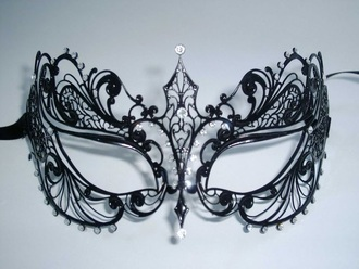 sunglasses black masquerade mask diamonds