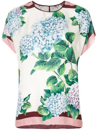 top women floral print silk