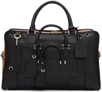 tan bag black