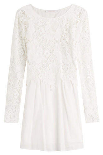 dress lace cotton white