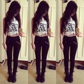 jeans,high waisted jeans,tied shirt,leggings,black,fashion,style,gold,pants,black jeans,black leggings,zip,slanted zipper,shirt,nail polish,cardigan,top,white top,bag,t-shirt,white t-shirt