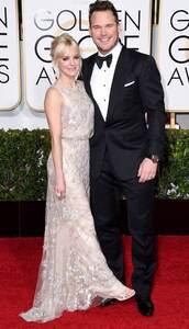 dress,anna faris,Golden Globes 2015