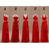 dress,2016 prom dresses,long prom dress,chiffon prom dress,red bridesmaid dress,bridesmaid