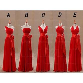 dress 2016 prom dresses long prom dress chiffon prom dress red bridesmaid dress bridesmaid