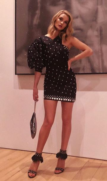 dress asymmetrical asymmetrical dress sandals mini dress rosie huntington-whiteley model off-duty instagram skirt pretty skirt cute skirt short skirt mini skirt