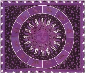 Amazon.com - Benji Tapestry ~ 100% Cotton ~ Many Novelty and Different Designs Available (Purple Sun Zodiac, 84