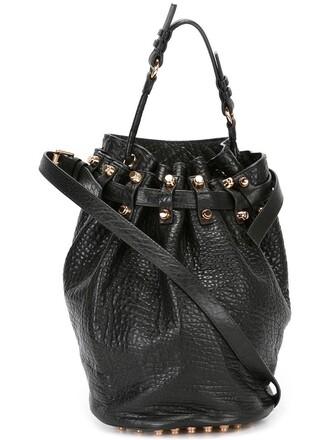 women bag bucket bag black