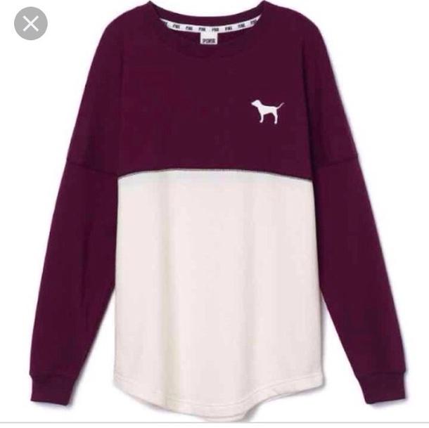 shirt victoria's secret burgundy