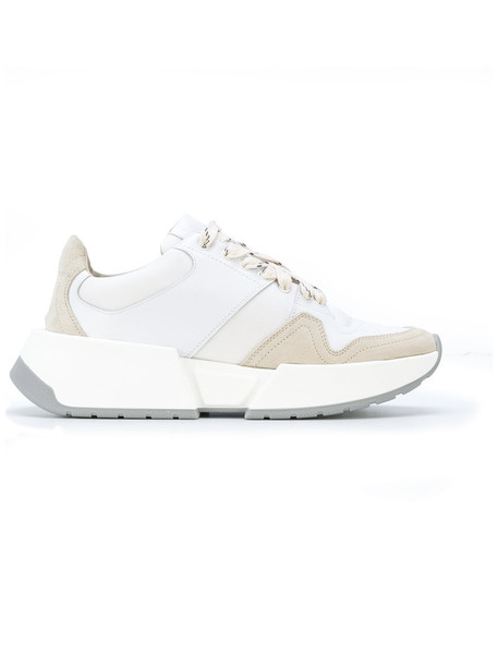 Mm6 Maison Margiela women sneakers leather white shoes