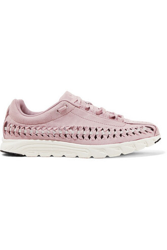 suede sneakers pastel sneakers leather suede pink pastel pink shoes