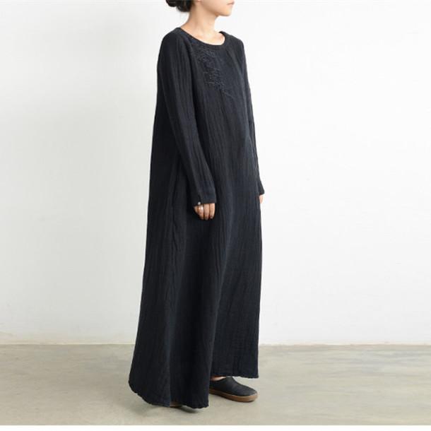 789dc49b35 buykud buykud.com women dress linen dress vintage dress plus size dress  linen coat linen
