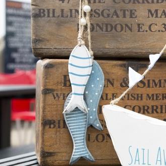 home accessory fish wood nautical decoration gift ideas seaside funny