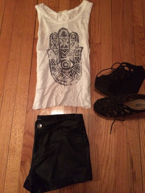shoes hamsa shorts leather