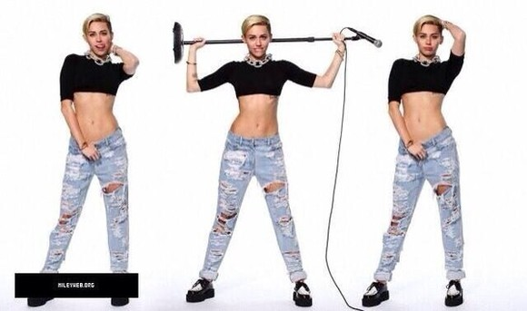 miley cyrus snl jeans ripped light jeans ripped jeans crop tops