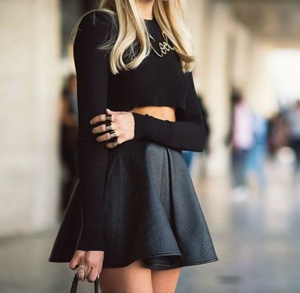 skirt black black skirt shirt cool winter outfits jewels jumpsuit