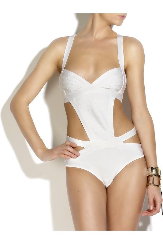 2013 new arrival womens's onm hl designer one piece spandex bandage swimsuit paris swimwear bikini lcw3051