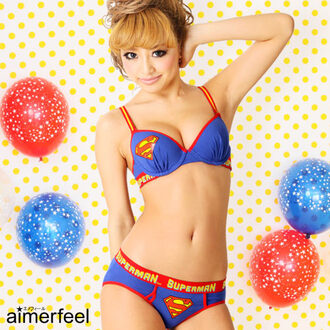 underwear superman panties bra cute