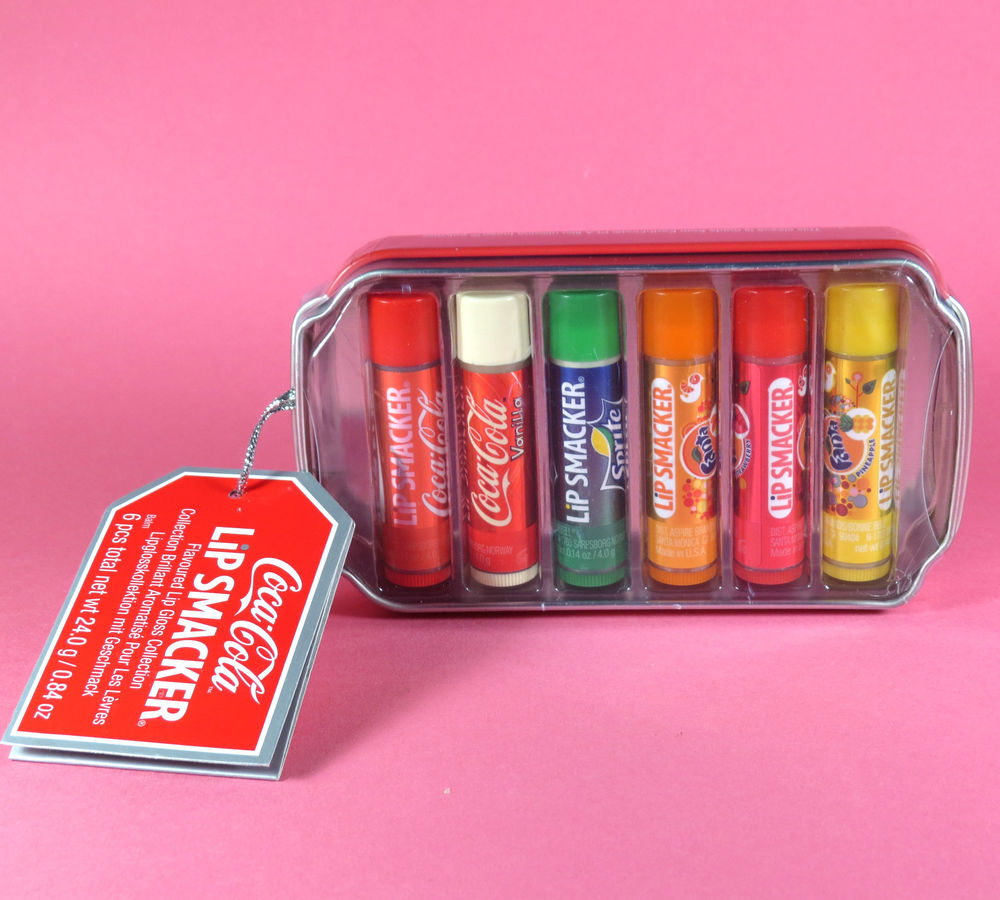 lip smacker coca cola lip balm set fizzy drink novelty. Black Bedroom Furniture Sets. Home Design Ideas
