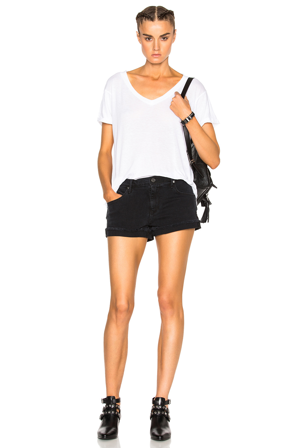 RtA Olivia Shorts in Used Knight | FWRD