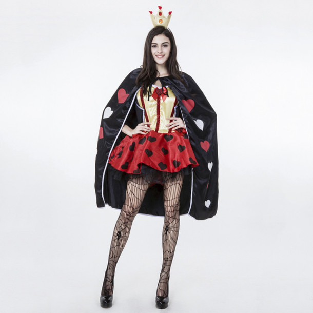 dress cosmetics cosplay costume queen girly cute dress cute red lingerie black dress halloween halloween costume wheretoget