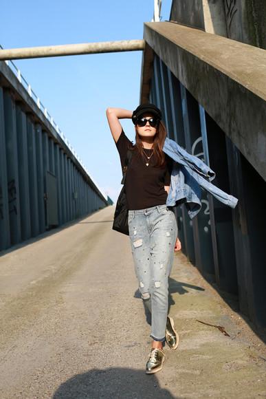 style scrapbook shoes jewels jacket jeans t-shirt