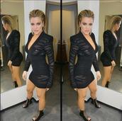 dress,mini dress,sandals,khloe kardashian,plunge v neck,plunge dress,bodycon dress,sexy dress,sexy,kardashians,instagram,black dress,little black dress