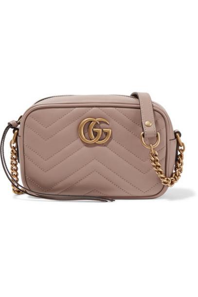 gucci mini quilted bag shoulder bag leather beige