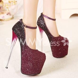 shoes pumps prom shoes high heels stilettos platform