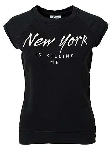 New York Is Killing Me Tee - Zoe Karssen - Svart - Topper - Klær - Kvinne - Nelly.com
