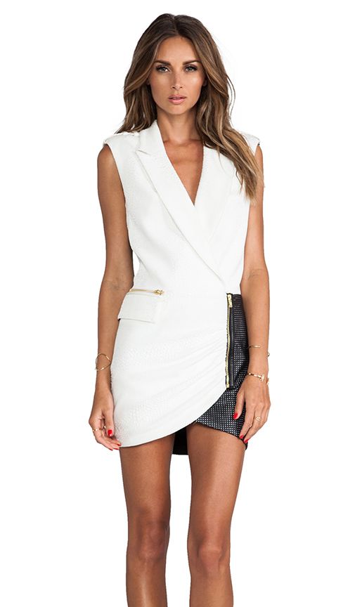 self-portrait Tuxedo Wrap in Black & White from REVOLVEclothing.com