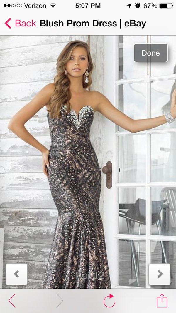 dress animal print mermaid dress