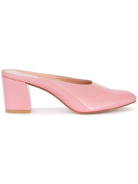 MARYAM NASSIR ZADEH women mules leather purple pink shoes