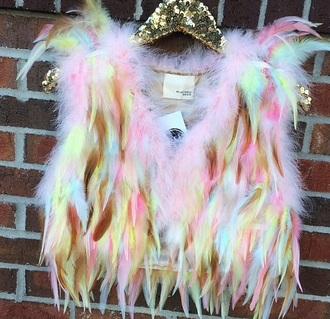 coat feathers raveclothes