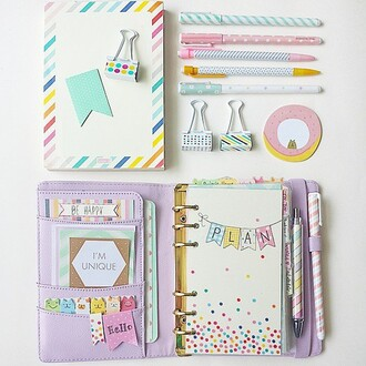 plans write bag organizer notebook girly pastel pencils pencil case cute girly wishlist new years resolution lifestyle