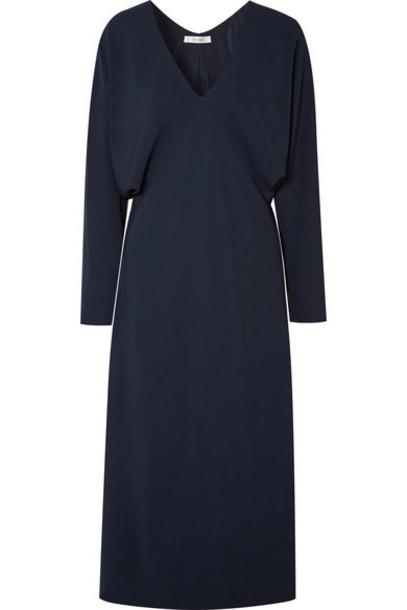 The Row - Dan Cady Midi Dress - Navy