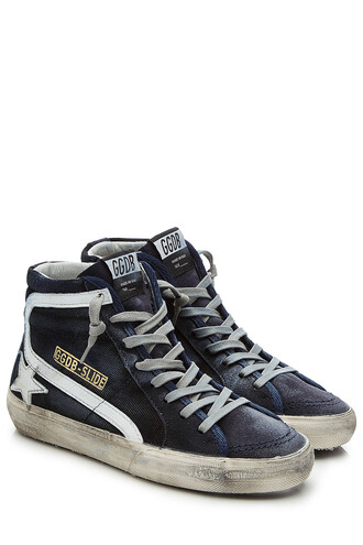 sneakers leather suede blue shoes