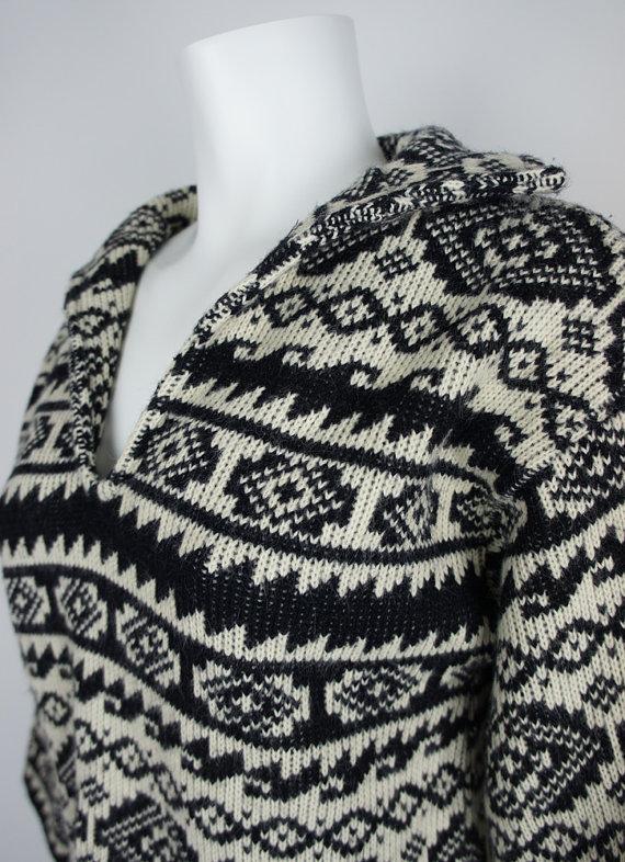 Aztec Knitting Pattern : 1960s Aztec Pattern Knit Sweater by LeRoy by foundationvintage