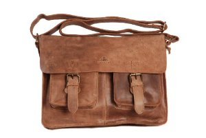 Tobacco Brown Vintage Leather Bag Twin Buckle Messenger Bag Satchel by Rowallan: Amazon.co.uk: Luggage