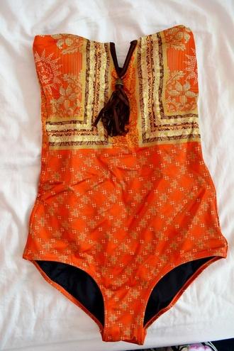 swimwear boho one piece indie