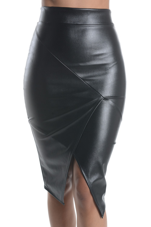 Leather wrap skirt · trendyish · online store powered by storenvy
