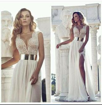 dress white lace top lace top dress slit dress