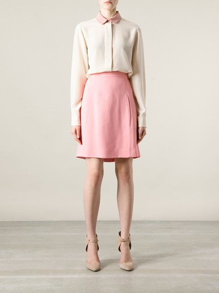 skirt pink skirt chloé straight skirt