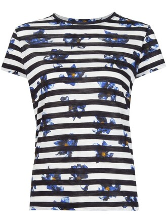 t-shirt shirt striped t-shirt print top