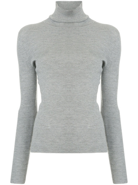 Estnation jumper women wool grey sweater